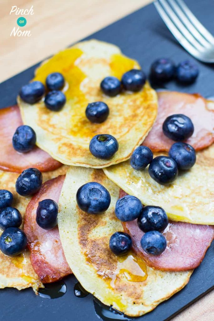 Bacon and Maple Blueberry Pancakes