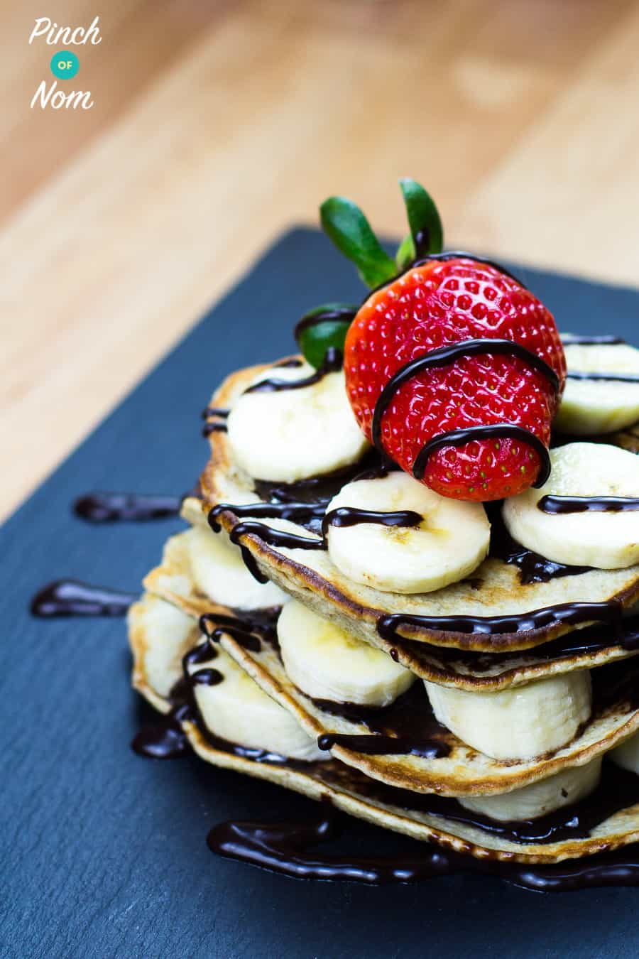 Banana and Chocolate Pancakes | Slimming & Weight Watchers Friendly