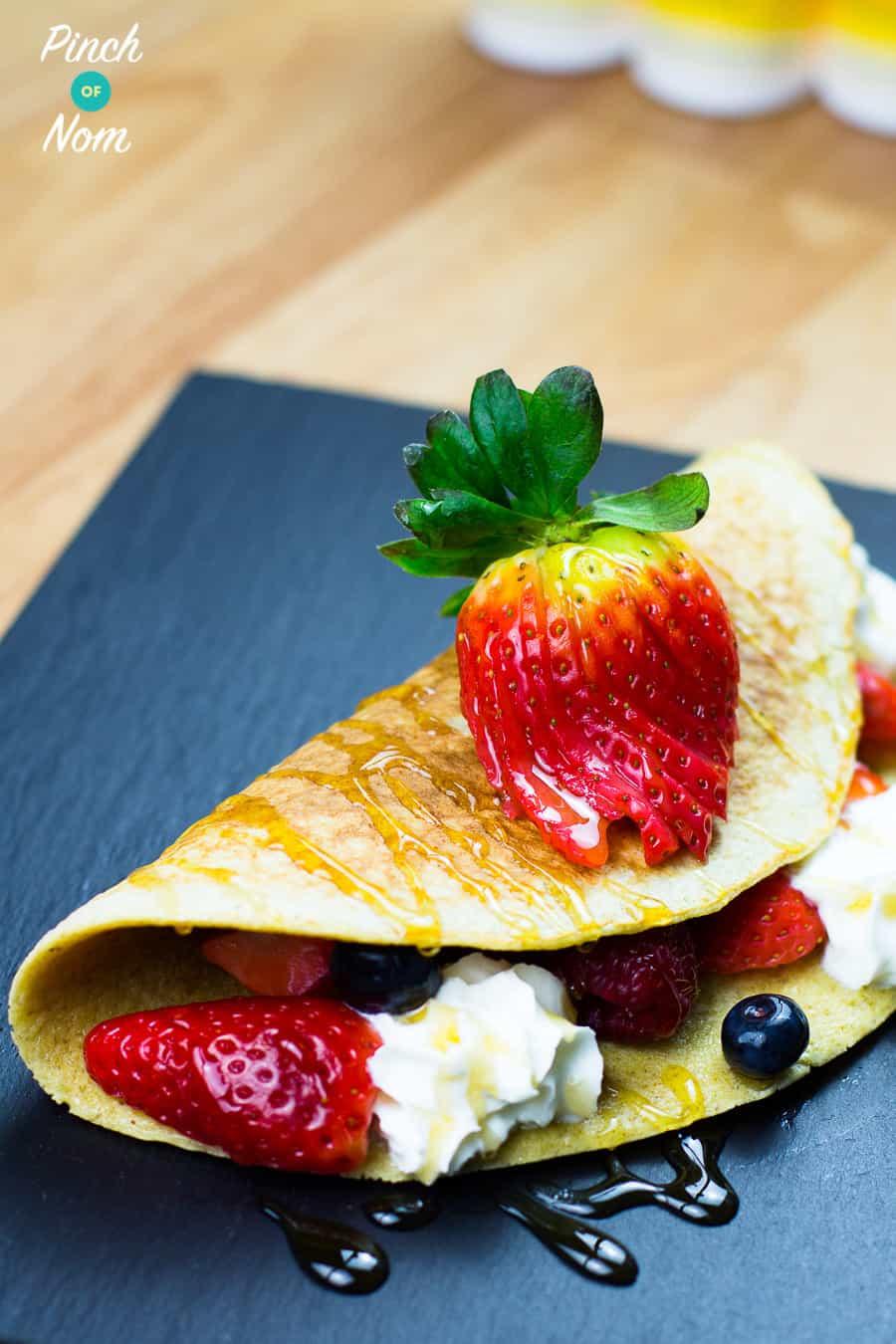 Folded Berry Pancake | Slimming World & Weight Watchers Friendly