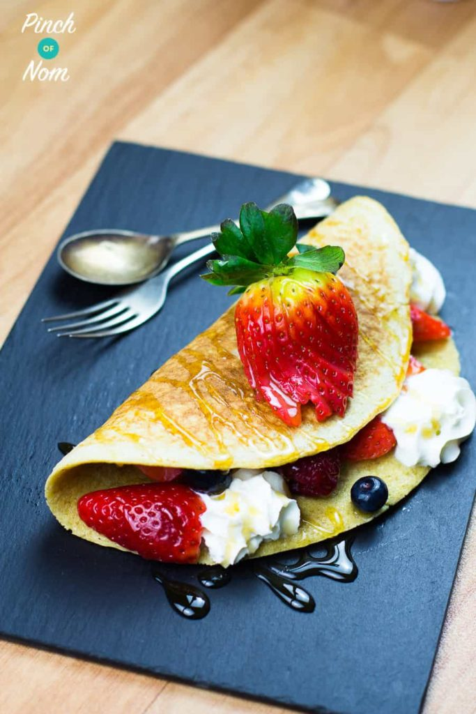 Low Syn Folded Berry Pancake