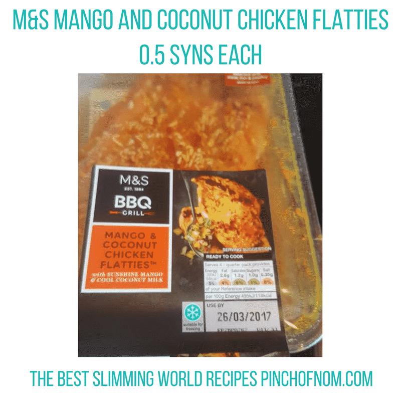 mands chicken flatties -New Slimming World Shopping Essentials - pinchofnom.com - March