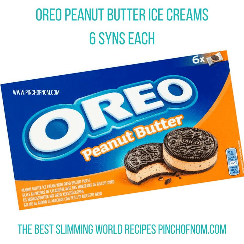 oreo peanut butter ice cream - New Slimming World Shopping Essentials - pinchofnom.com - March