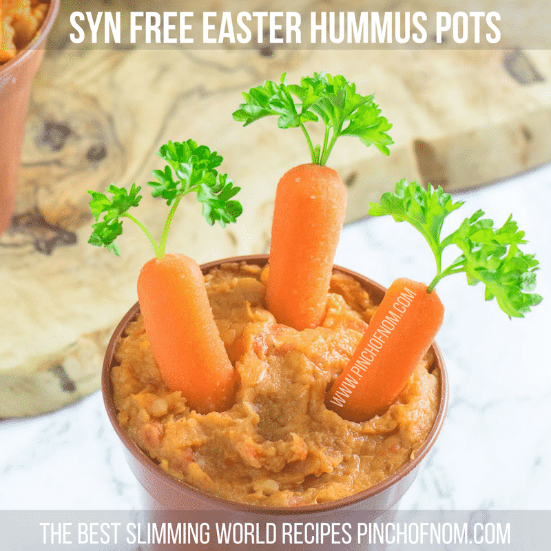 syn free easter hummus pots
