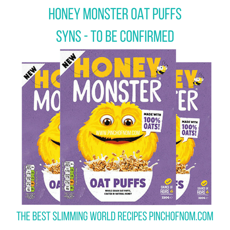 honey monster oat puffs - New Slimming World Shopping Essentials - pinchofnom.com - March