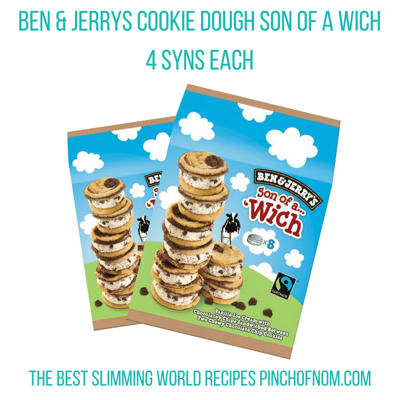 ben and jerrys ice cream -New Slimming World Shopping Essentials - pinchofnom.com - March