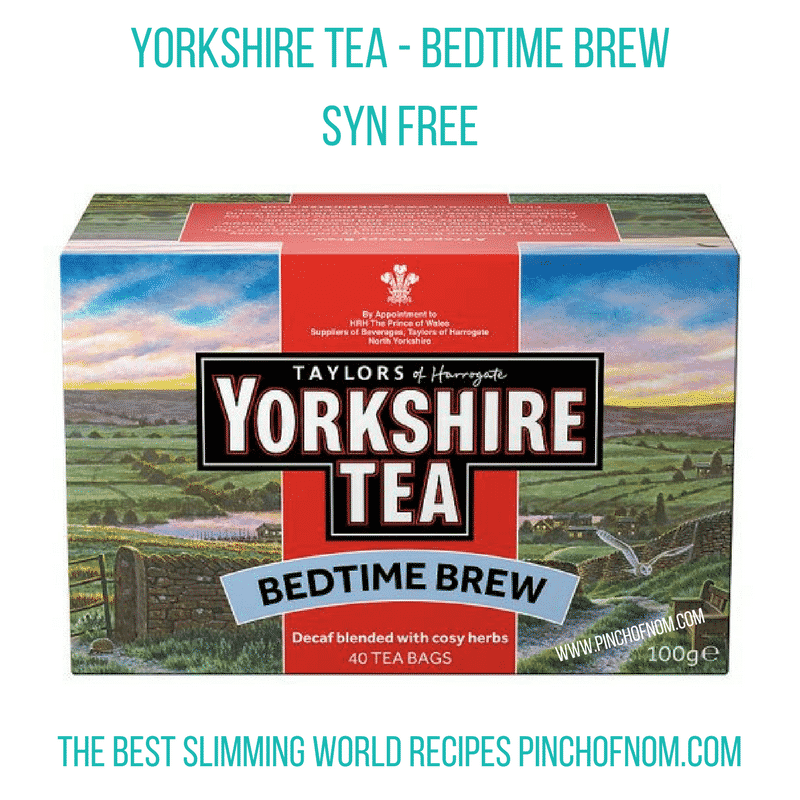 yorkshire tea bedtime blend - New Slimming World Shopping Essentials - pinchofnom.com - March