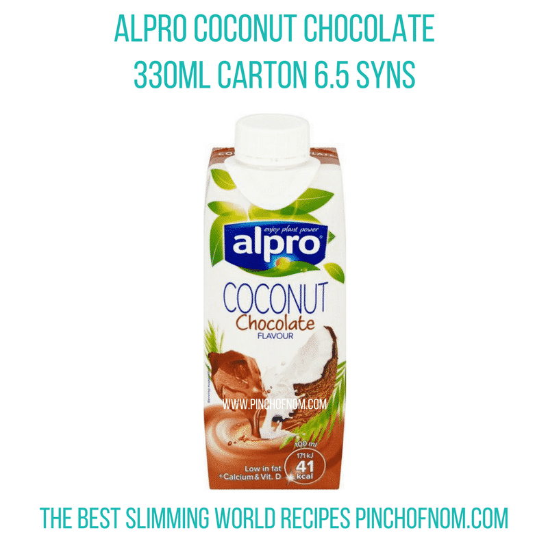 alpro coconut chocolate drink - New Slimming World Shopping Essentials - pinchofnom.com - March