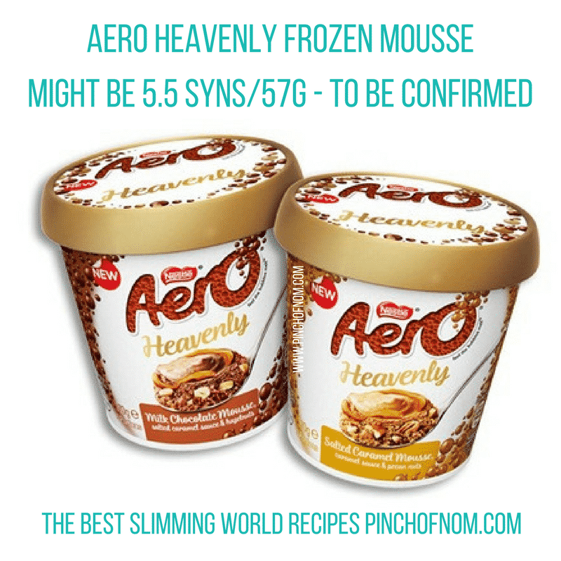 aero heavenly frozen mousse - New Slimming World Shopping Essentials - pinchofnom.com - March