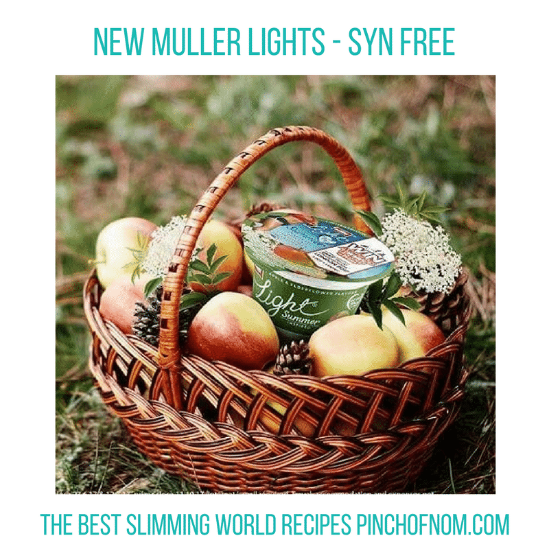 muller lights summer flavours -New Slimming World Shopping Essentials - pinchofnom.com - March