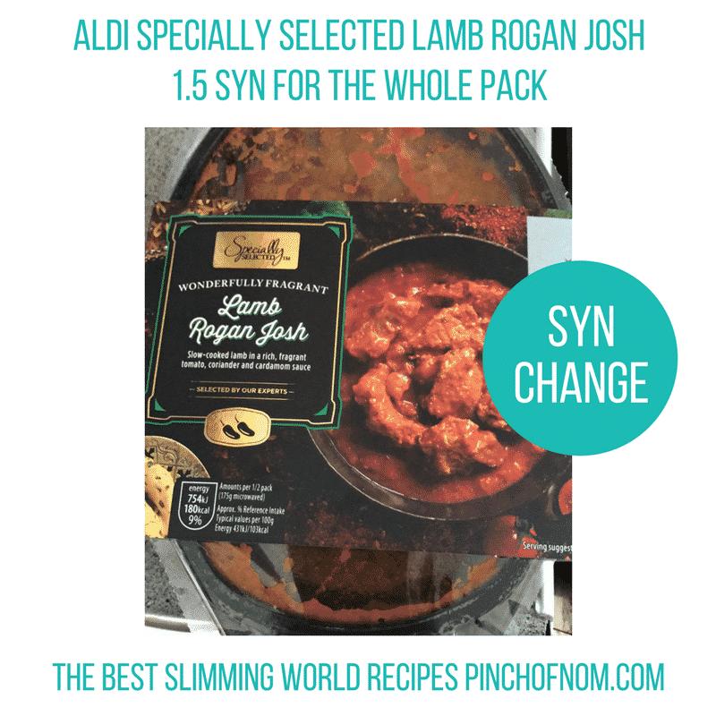 Aldi lamb rogan josh - pinch of nom slimming world essentials 2017