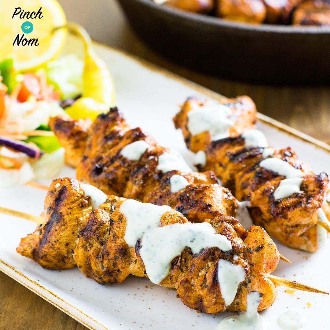 Syn Free Chicken Souvlaki and Tzatziki | Slimming World