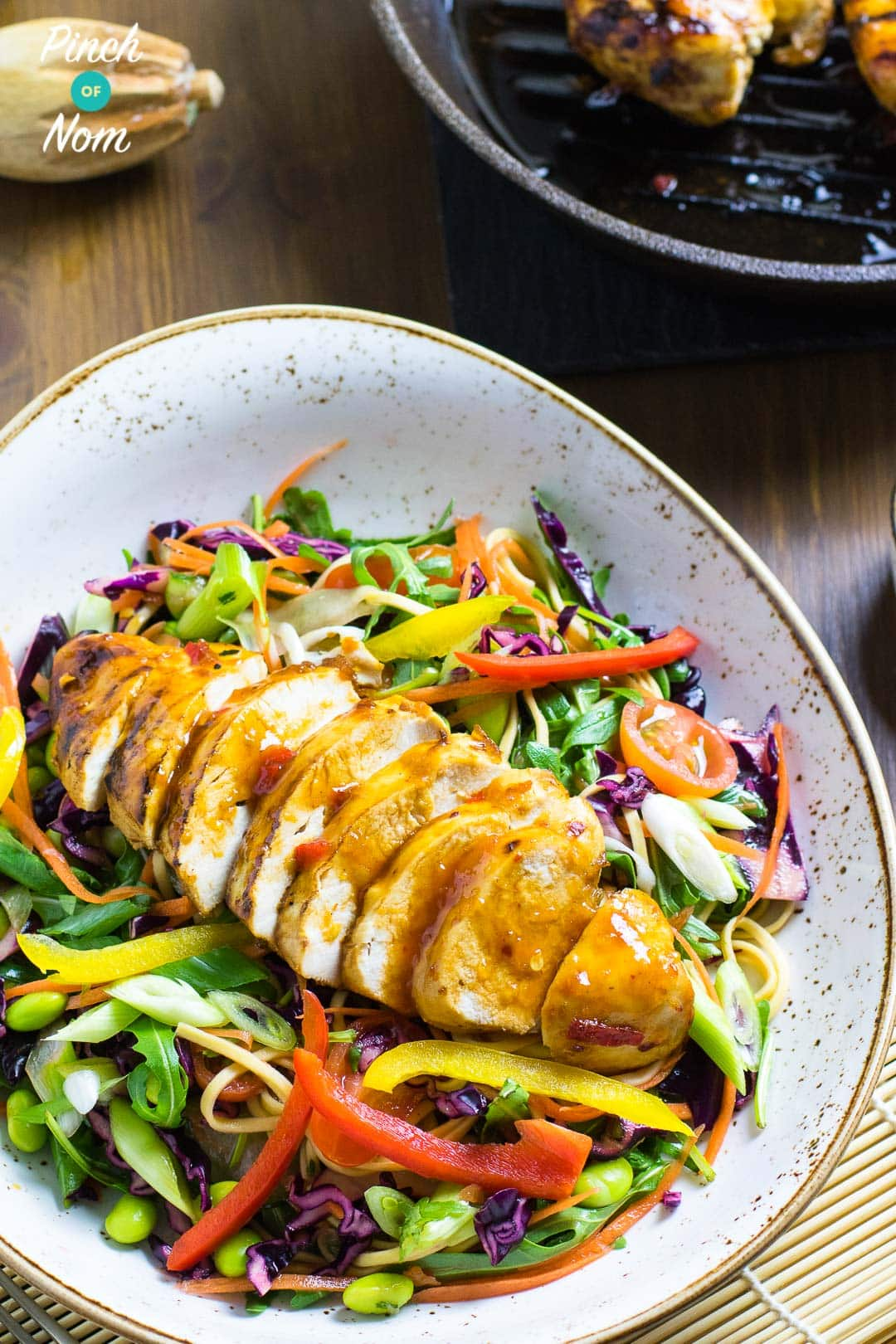 Sweet Chilli Chicken with Rainbow Salad | Slimming & Weight Watchers Friendly