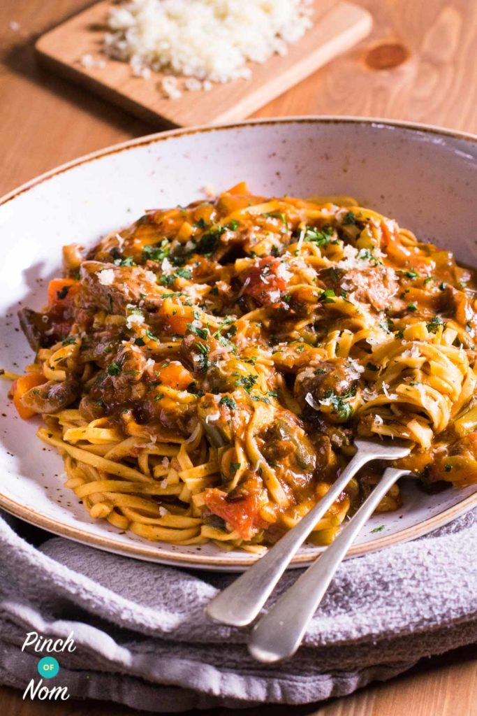 Beef Ragu Fettuccine | Slimming & Weight Watchers Friendly