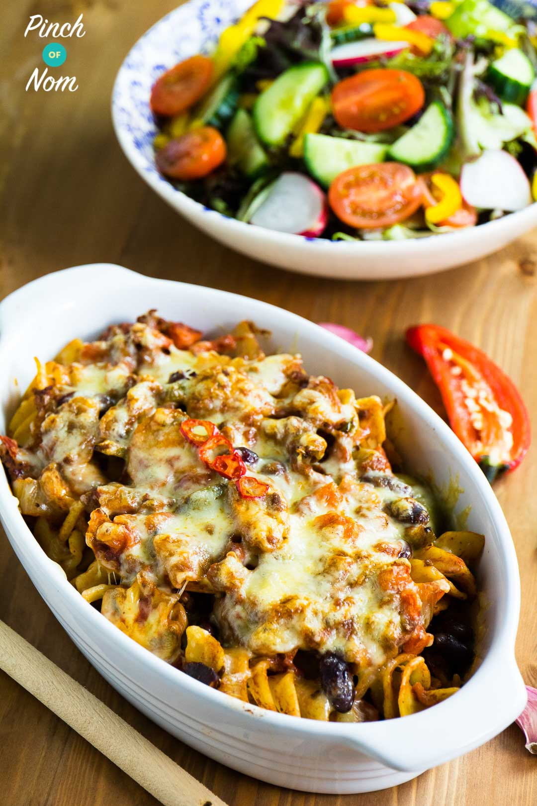 shopping essntials syn free chilli pasta bake | slimming world