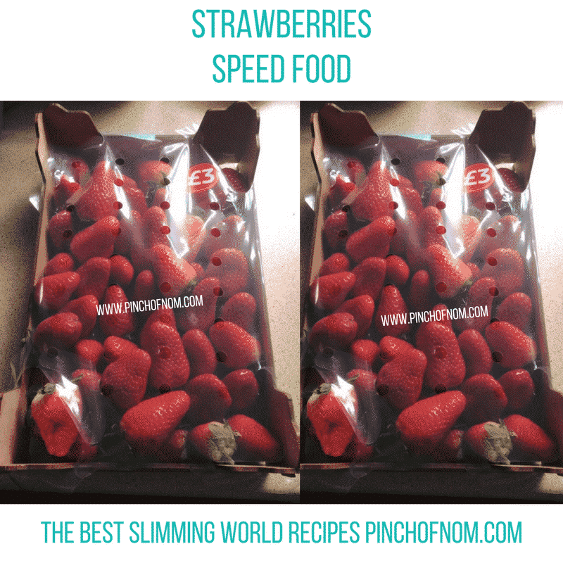 Strawberries - New Slimming World Shopping Essentials - pinchofnom.com - April