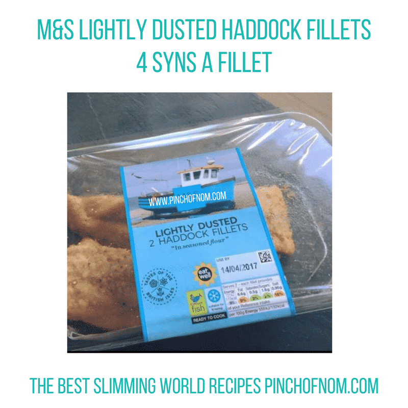 m and s lightly dusted haddock fillets - New Slimming World Shopping Essentials - pinchofnom.com - April