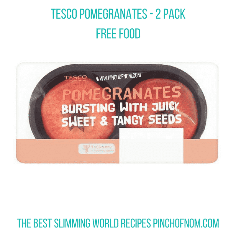 tesco pomegranates - New Slimming World Shopping Essentials - pinchofnom.com - April