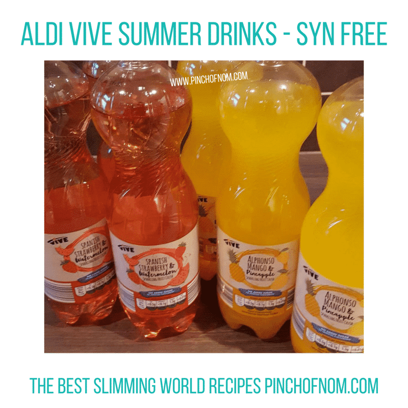 aldi vive drinks - New Slimming World Shopping Essentials - pinchofnom.com - April