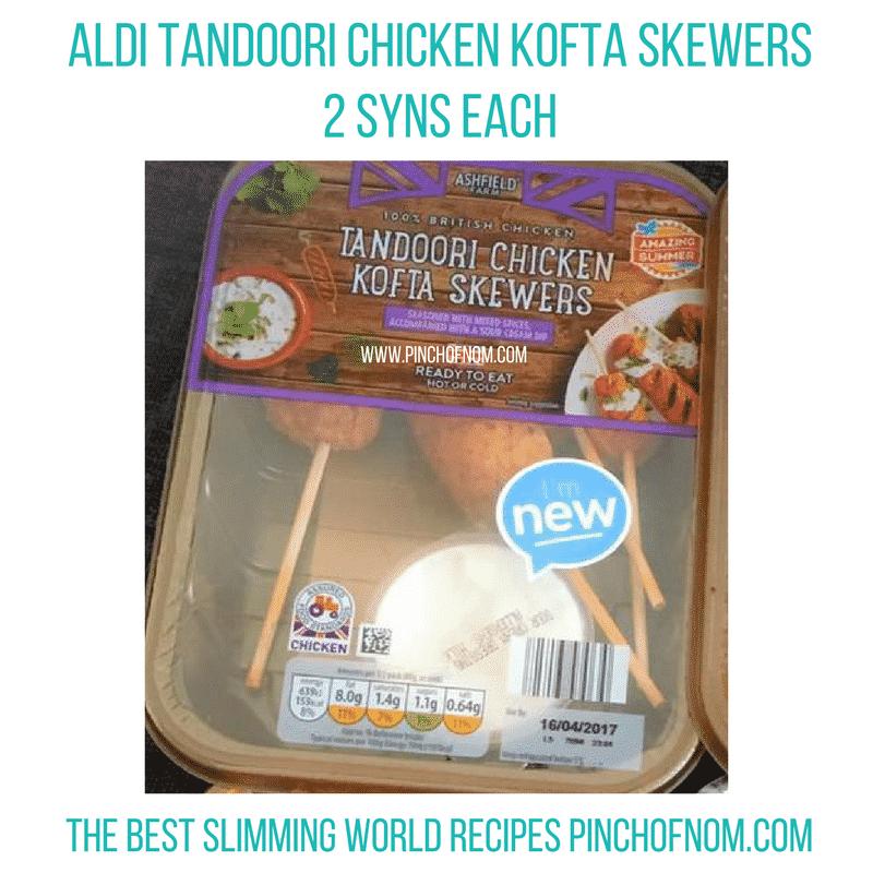 aldi chicken koftas - New Slimming World Shopping Essentials - pinchofnom.com - April