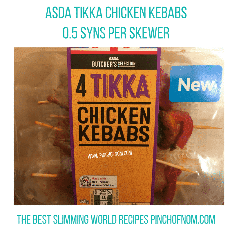 asda chicken tikka kebabs - New Slimming World Shopping Essentials - pinchofnom.com - April