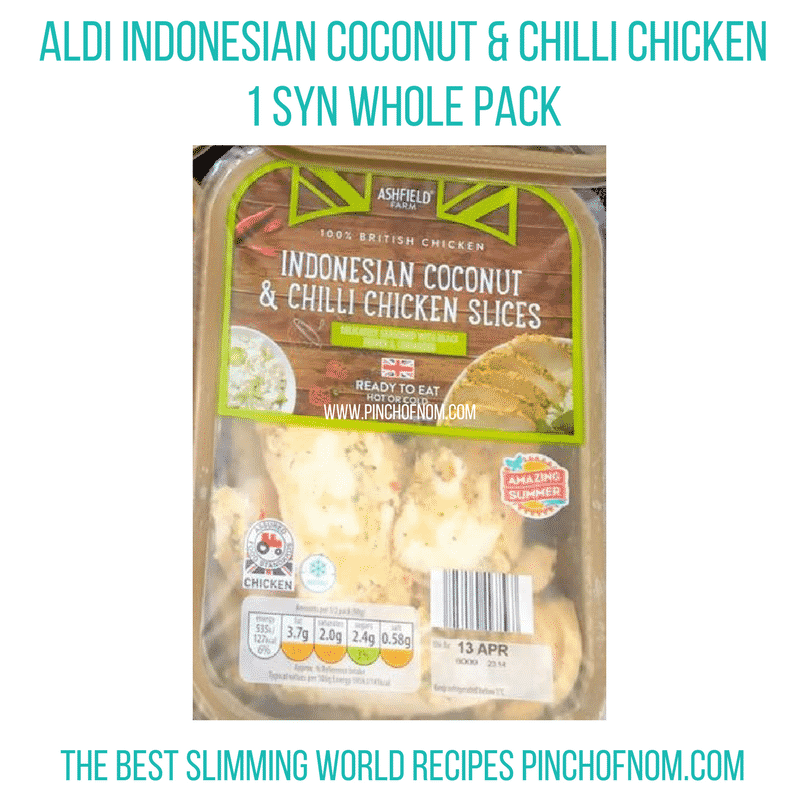 aldi coconut chicken - New Slimming World Shopping Essentials - pinchofnom.com - April