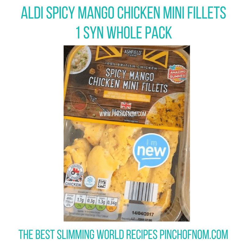aldi mango chicken - New Slimming World Shopping Essentials - pinchofnom.com - April