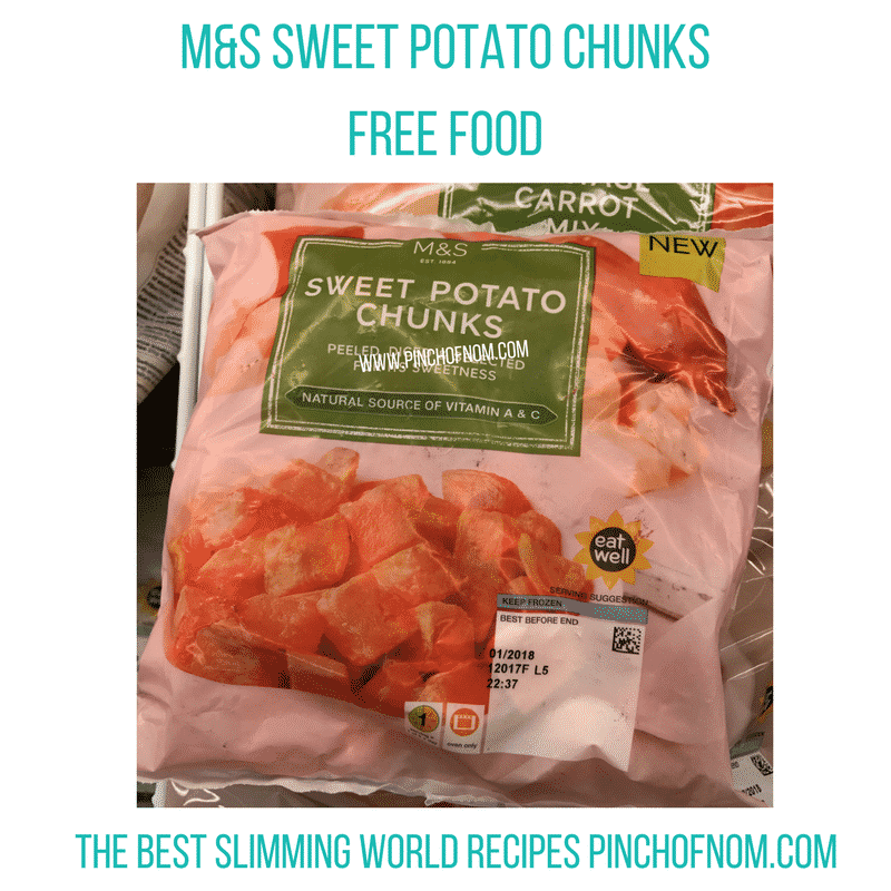 marks and spencer sweet potato bites - New Slimming World Shopping Essentials - pinchofnom.com - April