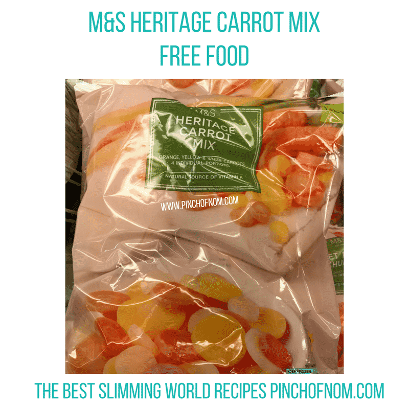 marks and spencer heritage carrots - New Slimming World Shopping Essentials - pinchofnom.com - April