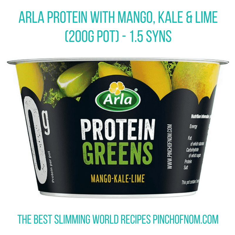 arla protein greens mango kale lime quark - New Slimming World Shopping Essentials - pinchofnom.com - April