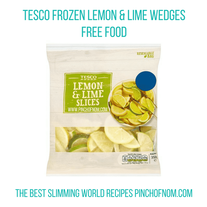 Tesco lemon and lime wedges - New Slimming World Shopping Essentials - pinchofnom.com - April
