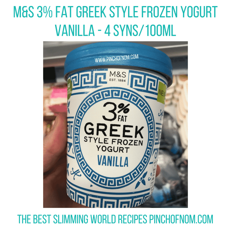 marks and spencer frozen yogurt - New Slimming World Shopping Essentials - pinchofnom.com - April