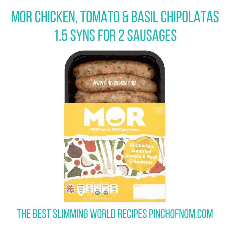 mor sausages - New Slimming World Shopping Essentials - pinchofnom.com - April