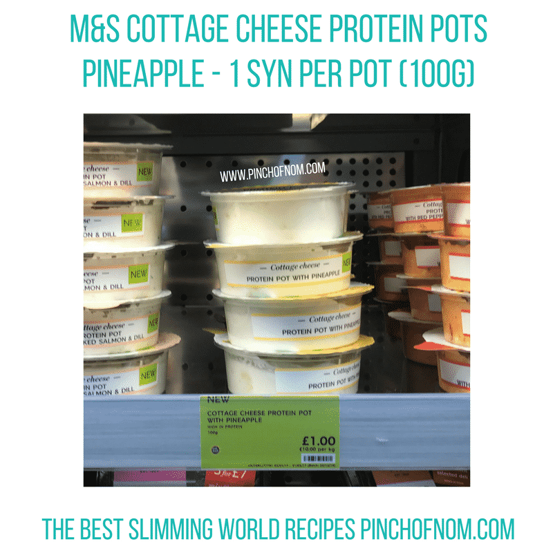 marks and spencer cottage cheese protein pots - New Slimming World Shopping Essentials - pinchofnom.com - April