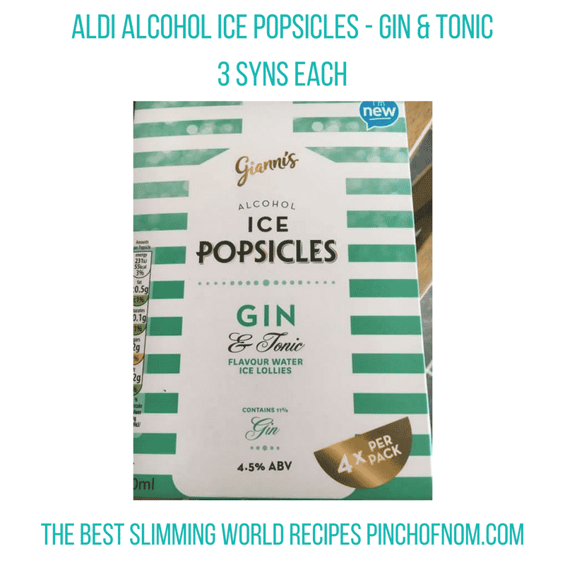 gin and tonic ice pops - pinch of nom slimming world essentials