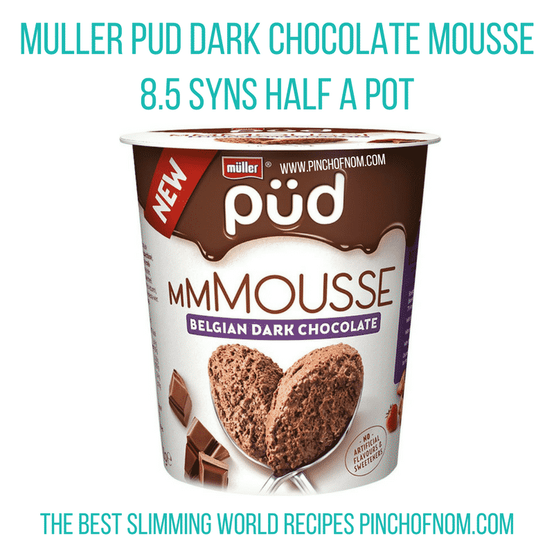 Muller pud chocolate mousse - New Slimming World Shopping Essentials - pinchofnom.com - April