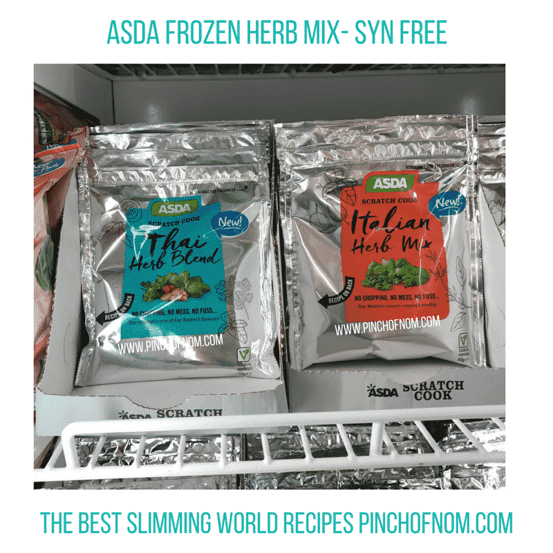 asda frozen herbs - New Slimming World Shopping Essentials - pinchofnom.com - April