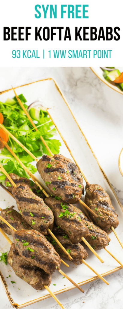 Syn Free Beef Kofta Kebabs | Syn Free Slimming World | 1 Weight Watchers Smart Point | 94 Kcal | pinchofnom.com