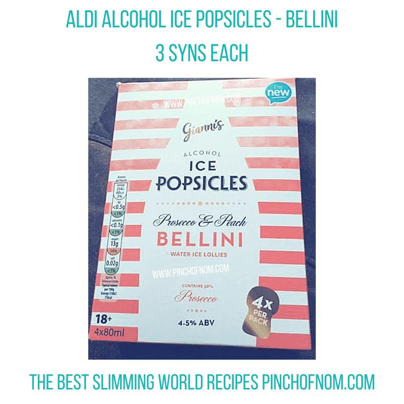 bellini ice pops - pinch of nom slimming world essentials