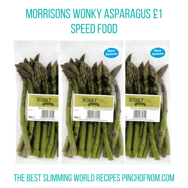 morrisons wonky asparagus - pinch of nom slimming world essentials