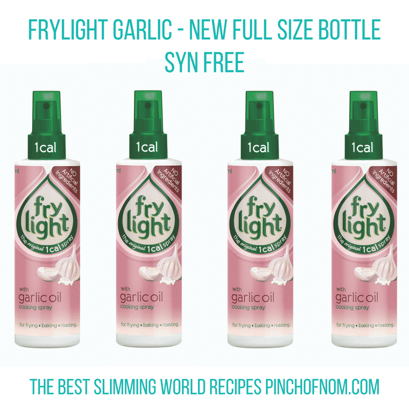garlic frylight- New Slimming World Shopping Essentials - pinchofnom.com - April