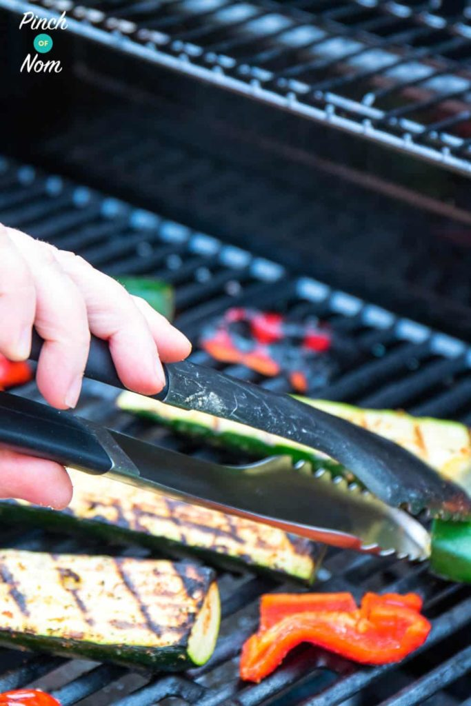Grilled / BBQ Courgettes | Slimming & Weight Watchers Friendly