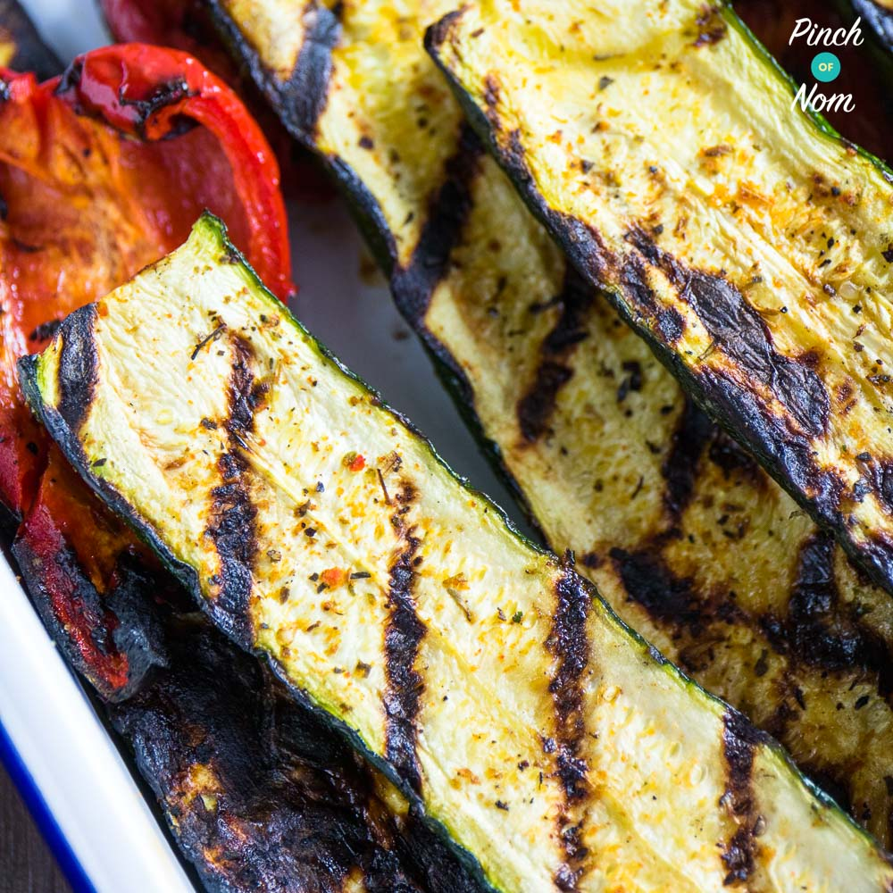 on the bbq - syn free grilled bbq courgettes | slimming world