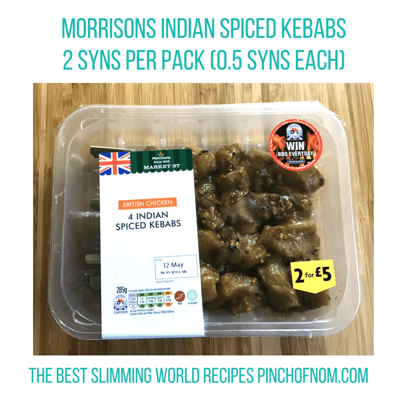 morrisons chicken kebabs - pinch of nom slimming world shopping essentials may