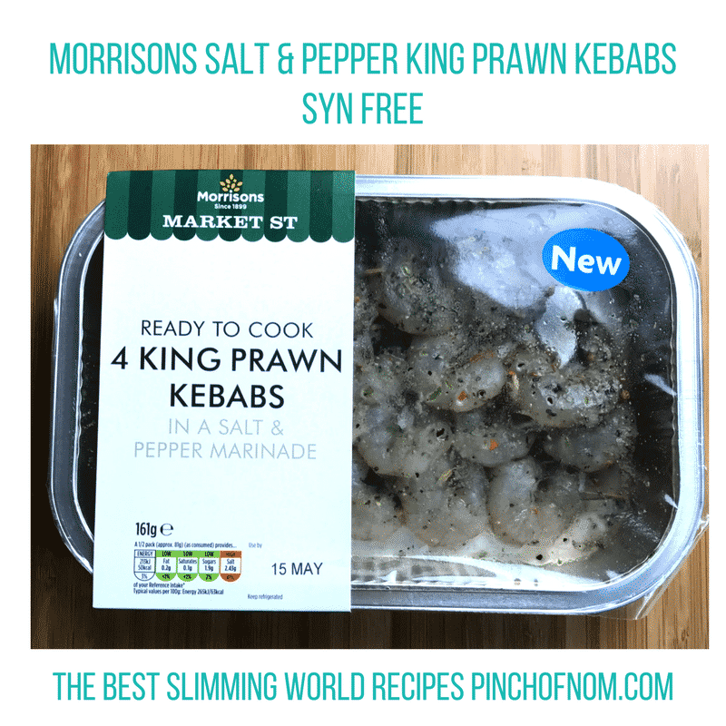 morrisons king prawn kebabs - pinch of nom slimming world shopping essentials may