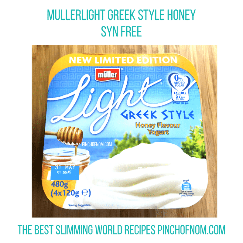 muller light greek style honey - pinch of nom slimming world shopping essentials may