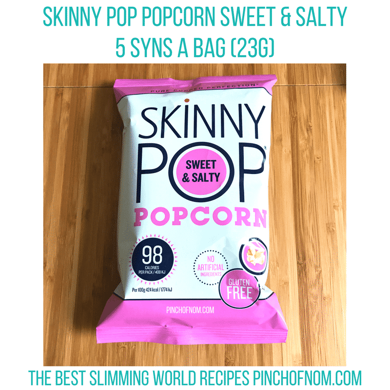 skinny pop - pinch of nom slimming world essentials may 2017