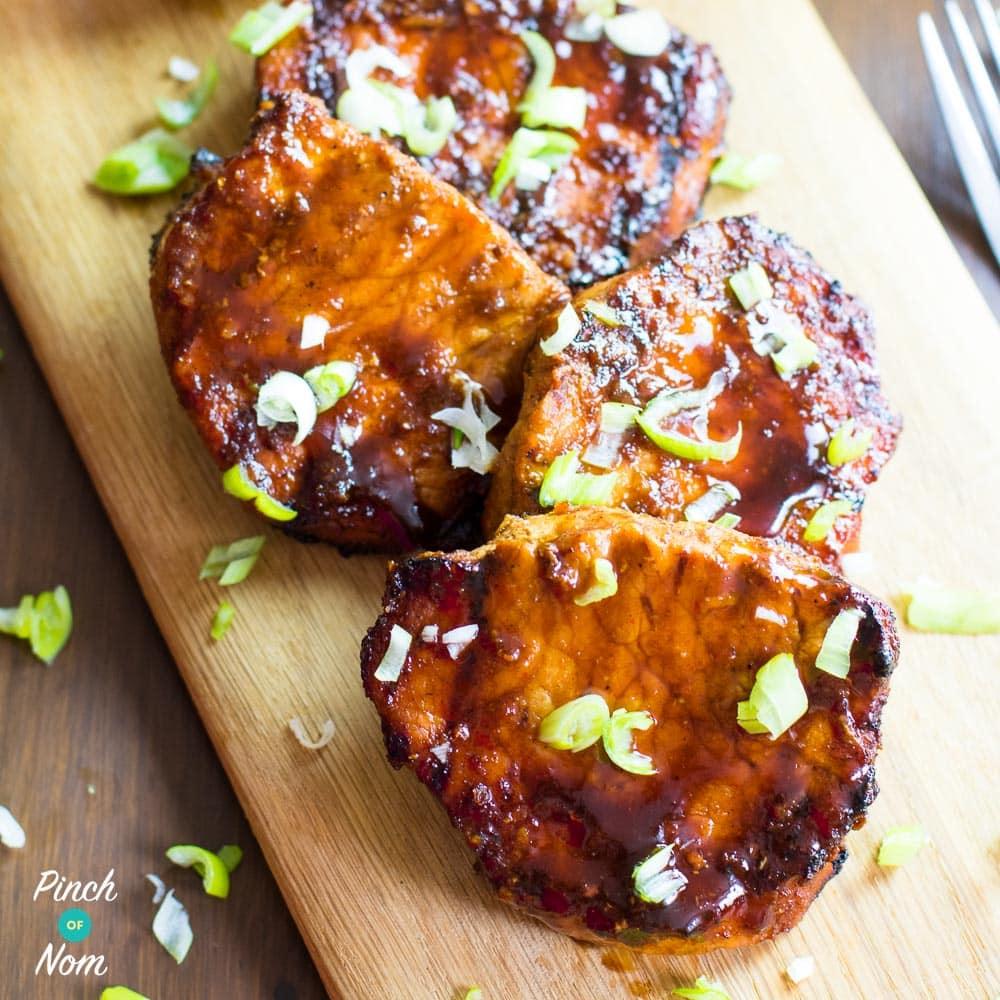 Sticky Chinese BBQ Pork pinchofnom.com