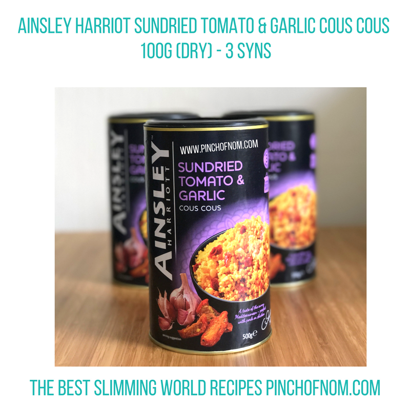 ainsley harriot cous cous - pinch of nom slimming world shopping essentials may