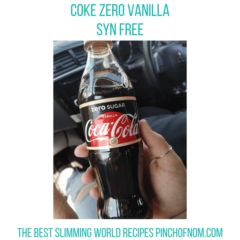 coke zero vanilla - pinch of nom slimming world shopping essentials may