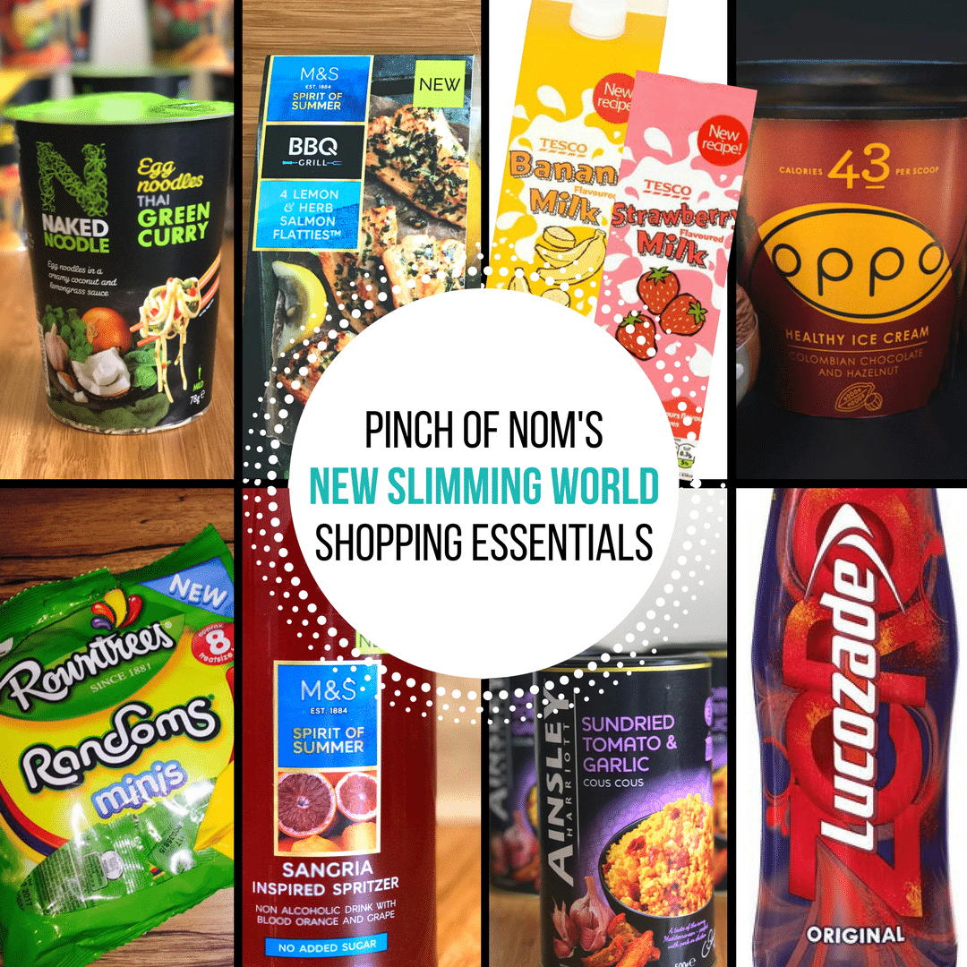 pinch of nom slimming world shopping essentials may